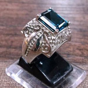 Jewelry - Tanzanite + Sterling Silver 925 Statement Ring 8
